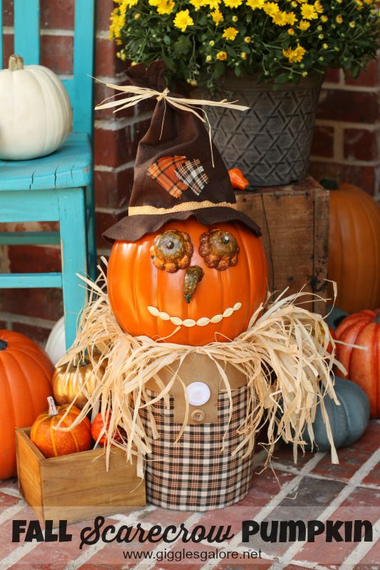 fall pumpkin scarecrow - Fall Pumpkin Decorations