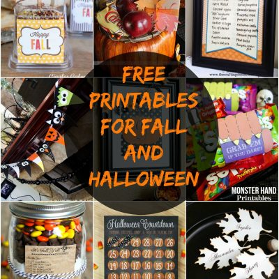 Free Printables for Fall and Halloween!
