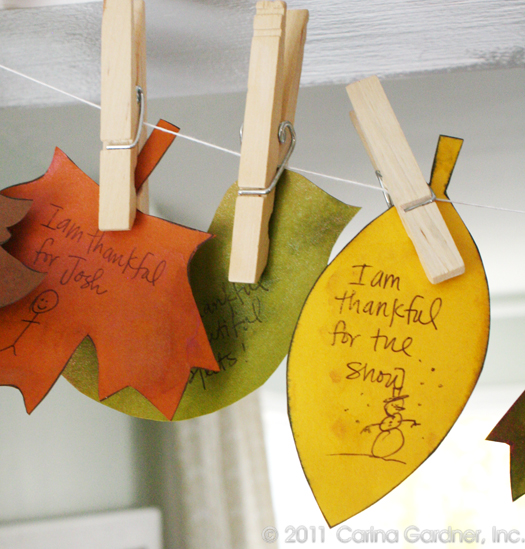 Giving Thanks Leaves Printables