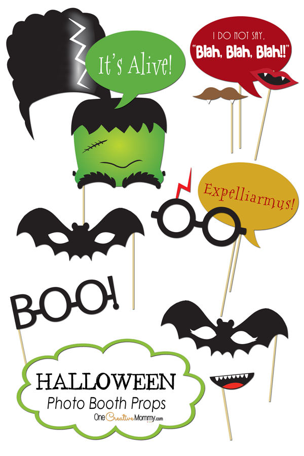 Halloween Photo Booth Printable Props