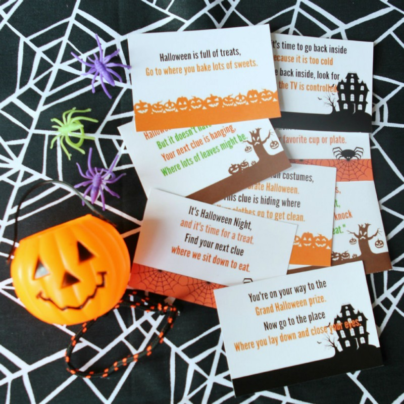Halloween Scavenger Hunt Printables