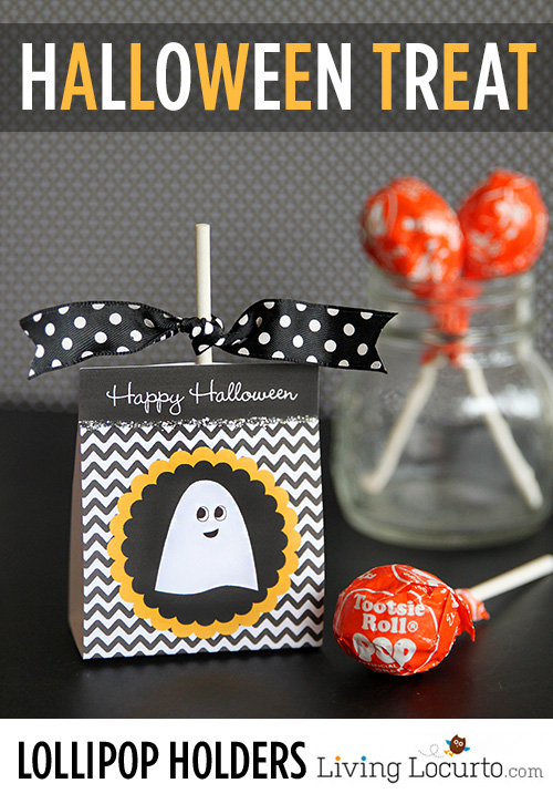Halloween Treat Lollipop Holders Printable