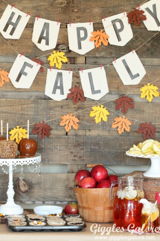 Happy Fall Caramel Apple Bar Party_Giggles Galore