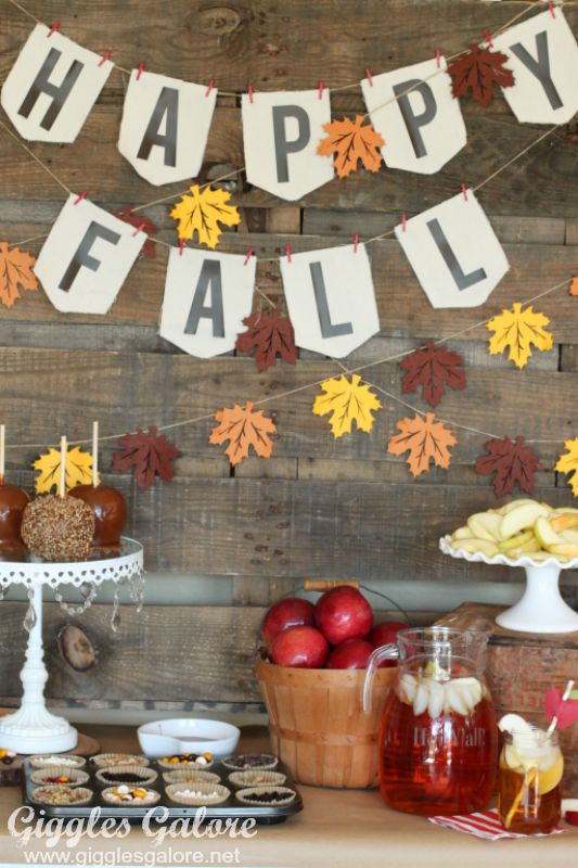 Happy Fall Caramel Apple Bar