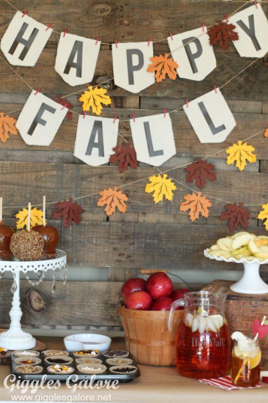 Happy Fall Caramel Apple Bar