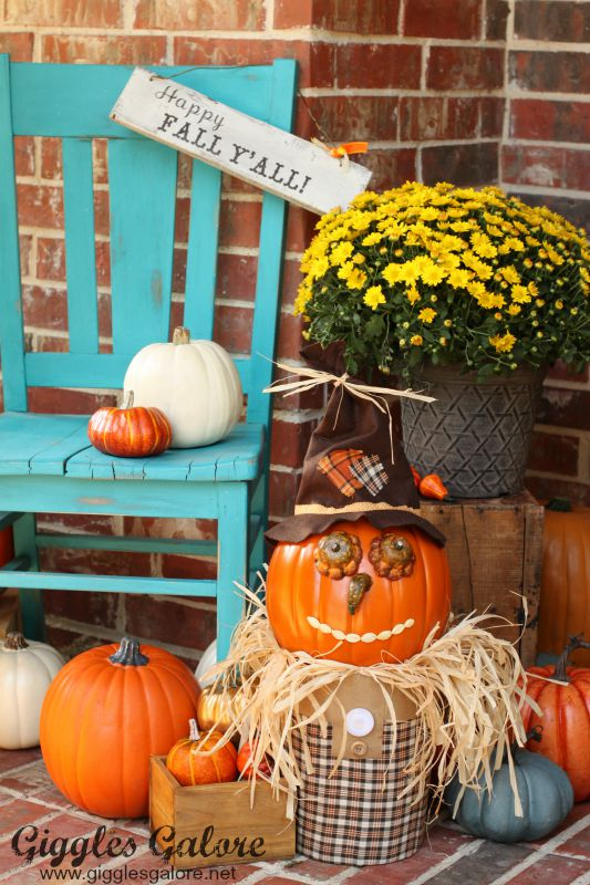 Happy Fall Pumpkin Scarecrow