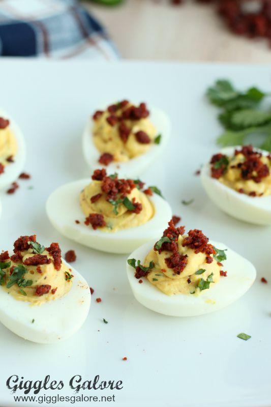 LoneStar Chorizo Deviled Eggs