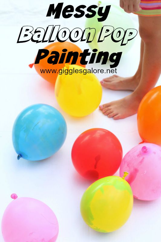 Messy Balloon Pop Painting_Giggles Galore