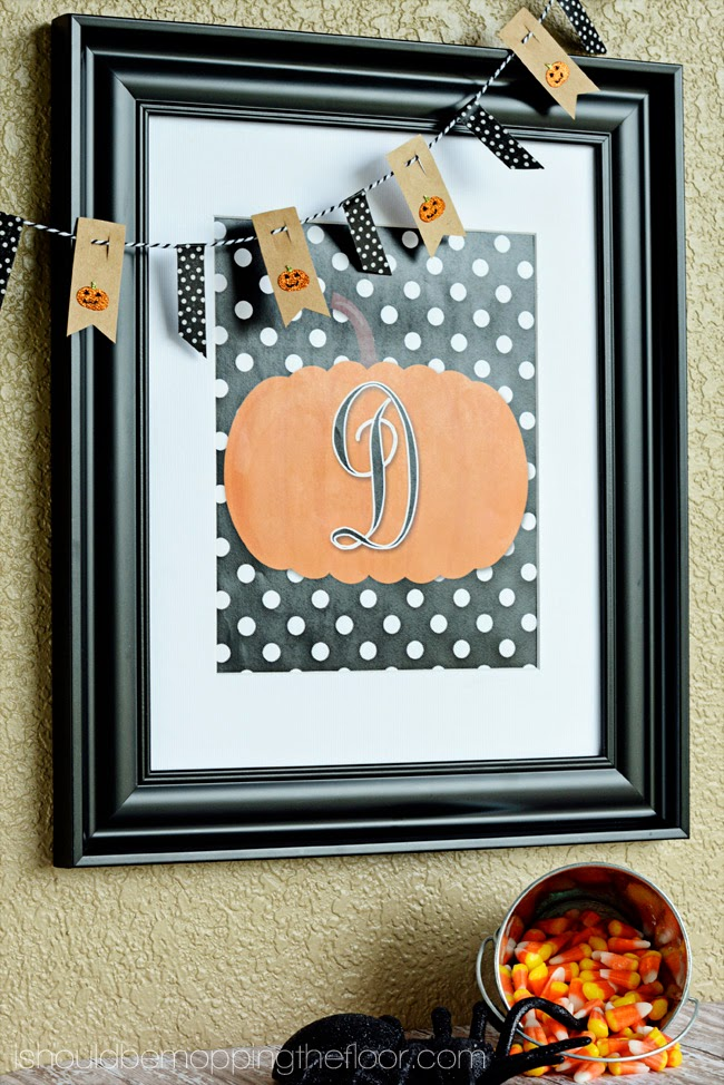 Monogram Pumpkin Printable