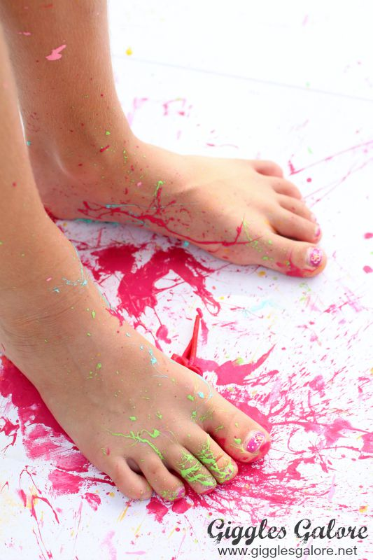 Paint Splattered Feet