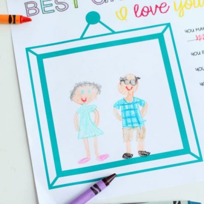 I Love You Because… Grandparents Day Gift