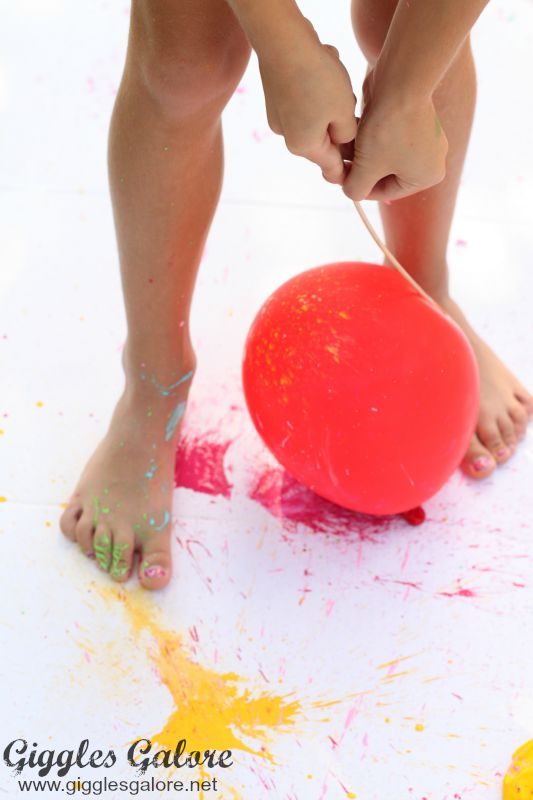 Popping Balloons with Paint