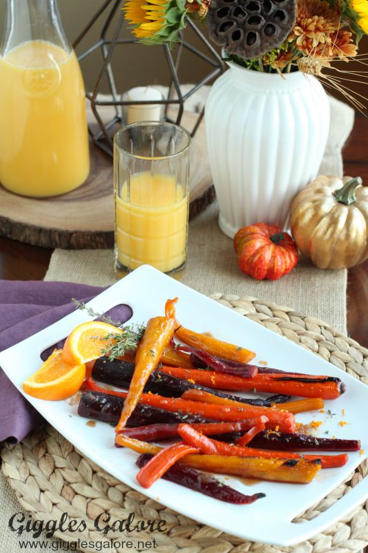 Roasted Orange Glazed Carrots