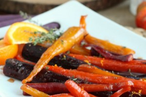 Roasted Orange Glazed Rainbow Carrots