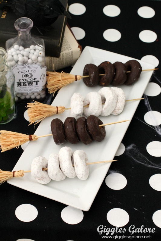 Witches broomstick party skewers