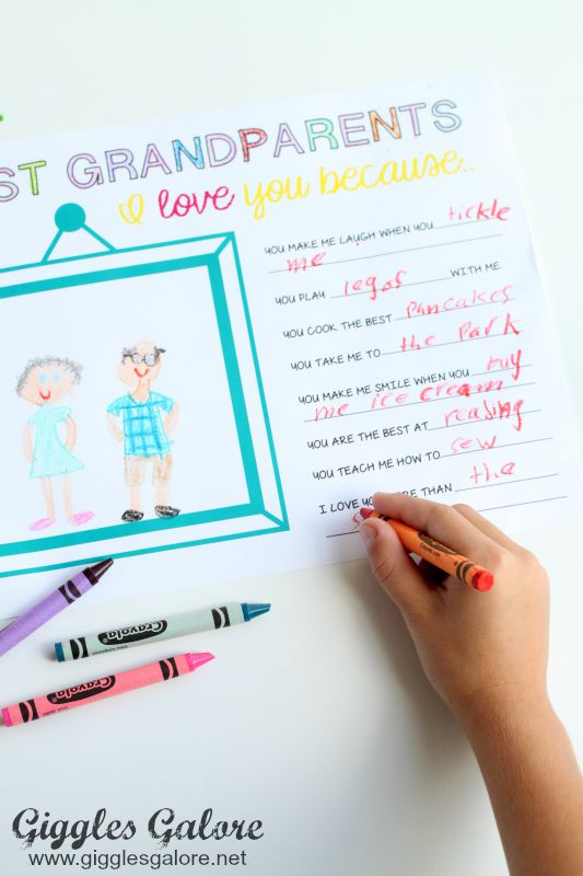 Writing Grandparents Day Note