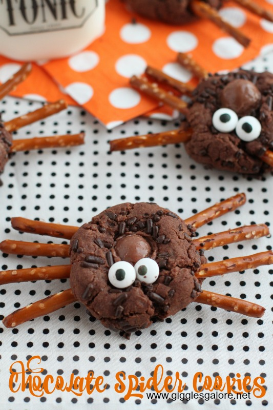 Chocolate Spider Cookies_Giggles Galore