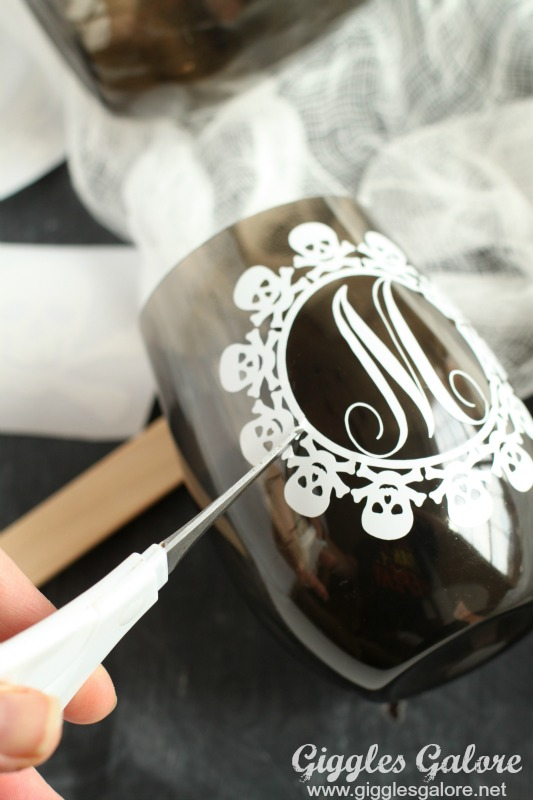 DIY Skull Themed Halloween Cups Giggles Galore - Vinyl for cup