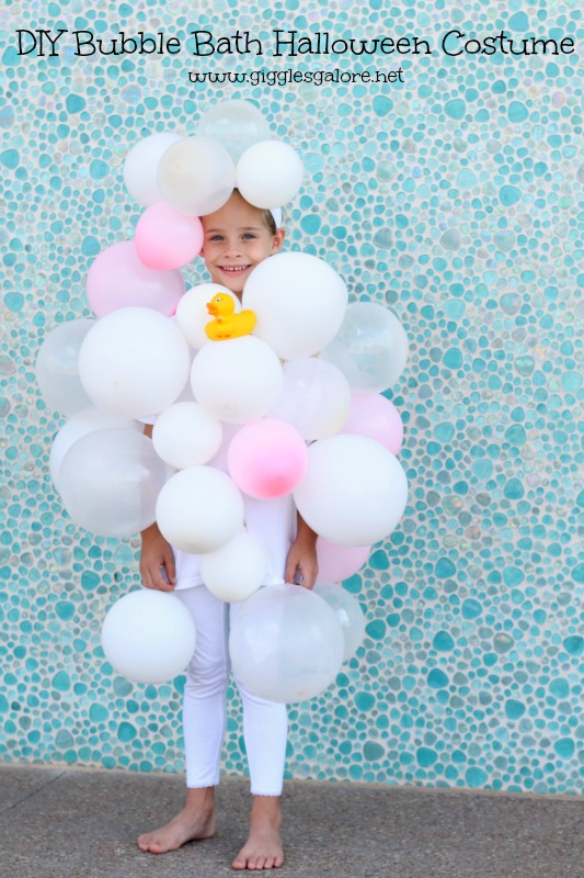 DIY Bubble Bath Halloween Costume