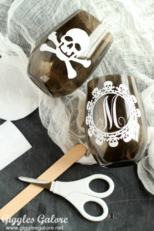 DIY Skull Cups with Vinyl