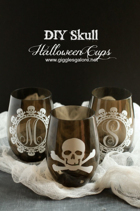 DIY Skull Halloween Cups_Giggles Galore