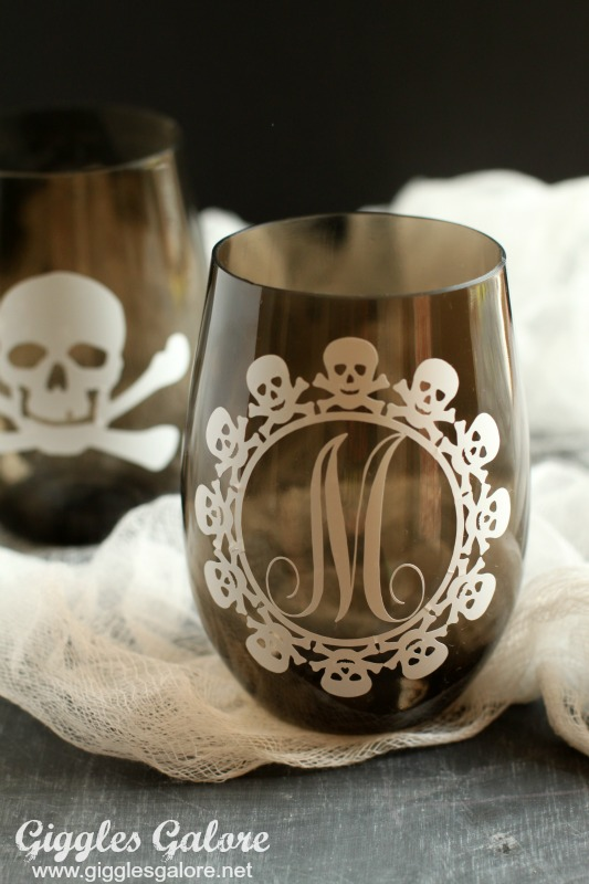 DIY Skull Themed Halloween Cups