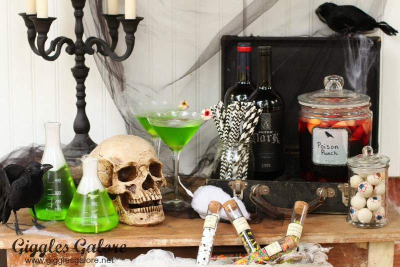 Mad Scientist Halloween Party-Drink Bar