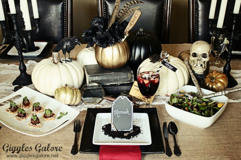 Mystery Dinner Party Menu Ideas Part - 21: Pin This · Murder Mystery Dinner Party Table Setting_Giggles Galore
