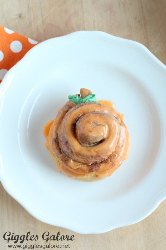 Orange Pumpkin Cinnamon Roll