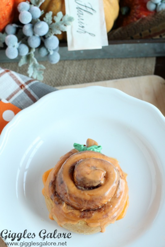 Orange Pumpkin Pillsbury Cinnamon Rolls