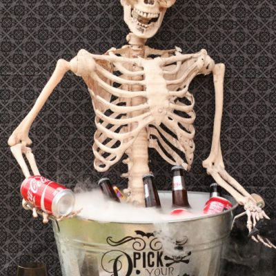 DIY Skeleton Drink Bucket