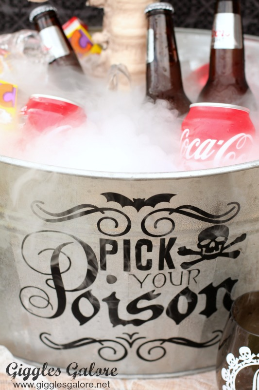 Pick Your Poison Dry Ice Bucket