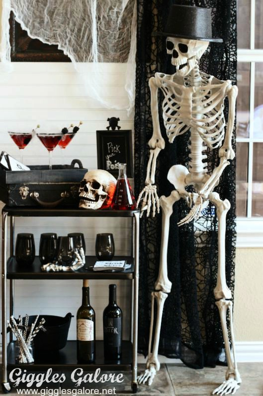 Skeleton Bar Cart_Giggles Galore