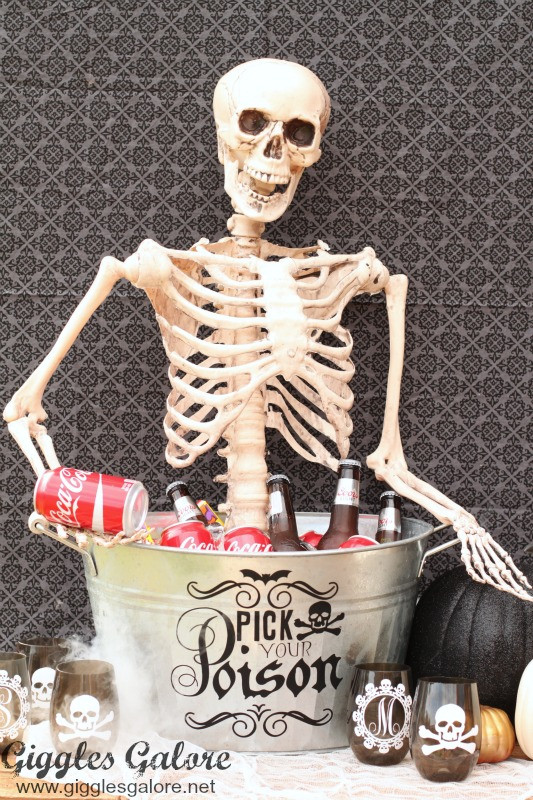 Skeleton in Drink Bucket