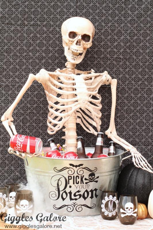 Skeleton in Drink Bucket