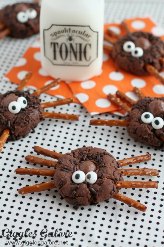 Spooktacular Chocolate Spider Cookies
