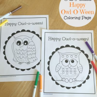 Happy Owl-O-Ween Coloring Page