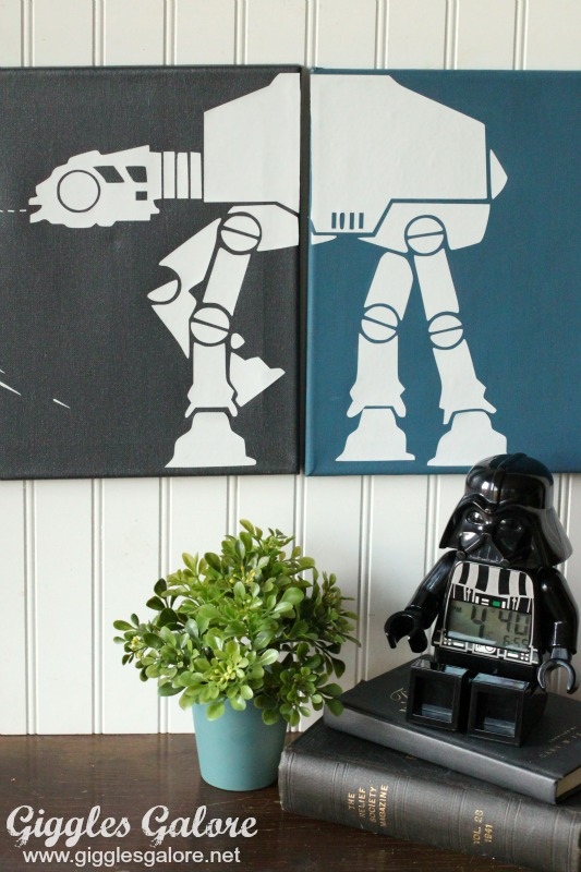 DIY Imperial Walker DecoArt Painted Canvas