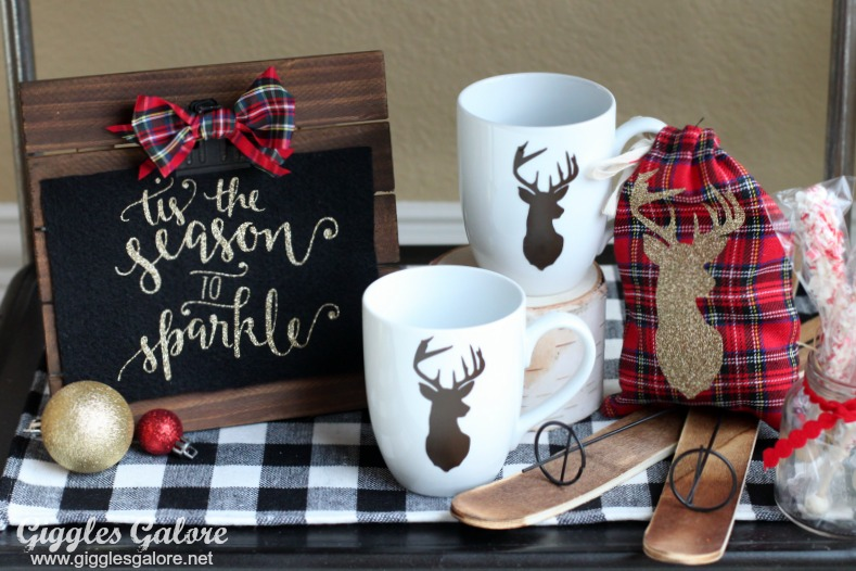 Glam Hot Cocoa Wooden Sign