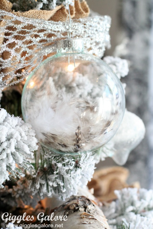 Glass Feather Ornament