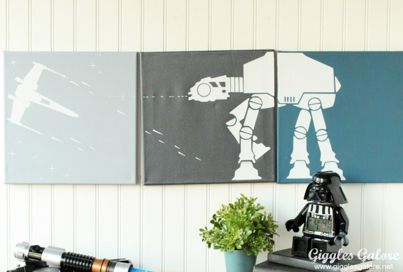 Painted Canvas Star Wars Art for Boys Room