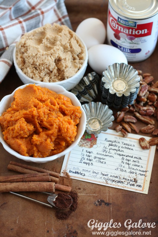 Pumpkin Tassies Ingredients