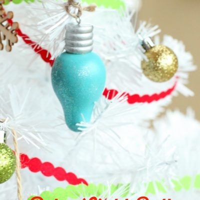 Retro Light Bulb Painted Ornaments
