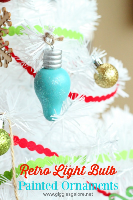 Retro Light Bulb Painted Ornaments_Giggles Galore