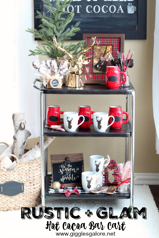 Rustic + Glam Hot Cocoa Bar Cart_Giggles Galore