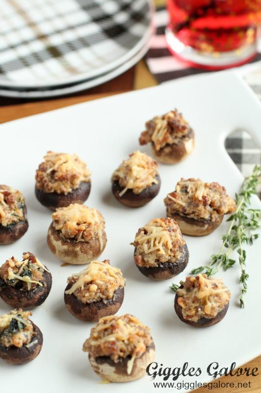 Sausage Stuffed Mushroom Party Appetizer