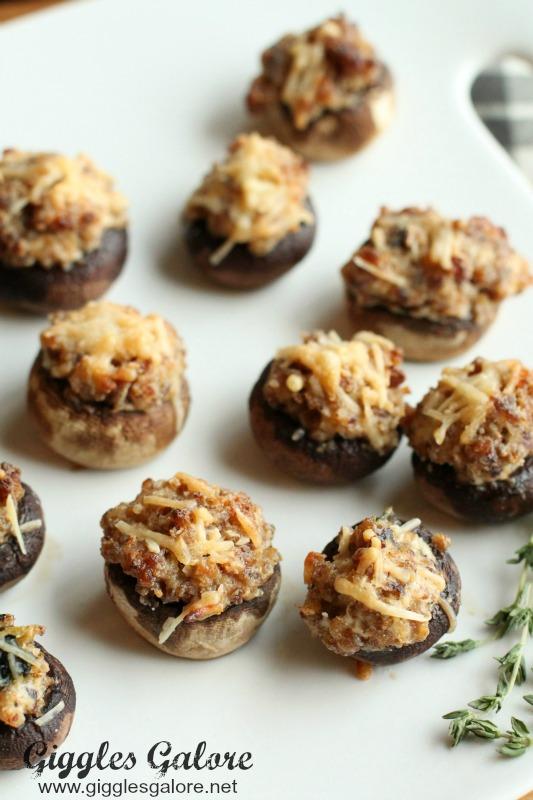 Sausage Stuffed Mushroom_Holiday Appetizer