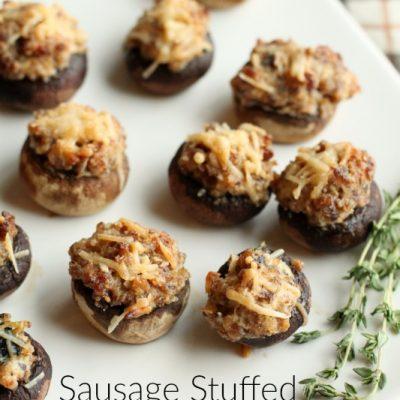 Sausage Stuffed Mushroom Appetizer