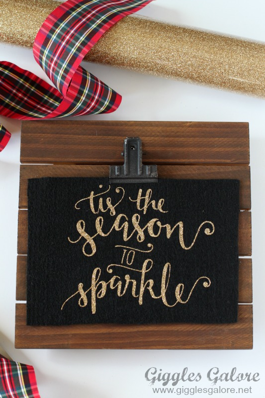 Tis the Season to Sparkle Felt Sign