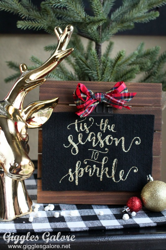 Tis the Season to Sparkle Glitter Sign